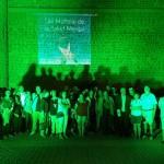 El Castillo de Santa Ana se pinta de verde en apoyo a los enfermos mentales