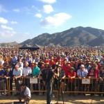 Una multitud de agricultures pide agua para sus cultivos en el Levante