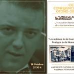 El ciclo histórico del Casino de Vera regresa el viernes con Francisco Jesús Martín Milán